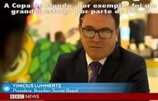 No programa, presidente da Embratur abordou desafios e expectativas do turismo com os eventos esportivos.