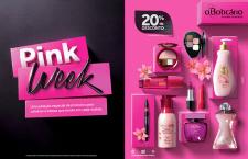 Pink Week oferece descontos de até 20% nas lojas e no e-commerce.