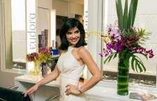 A atriz Vanessa Giácomo foi anunciada pelo anfitrião como garota-propaganda da linha. (Foto: xx)