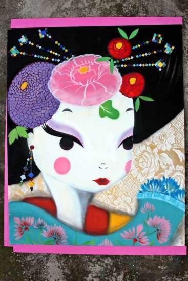 A mostra de Ktia ficará por 3 meses, quando será substituída por um novo artista.