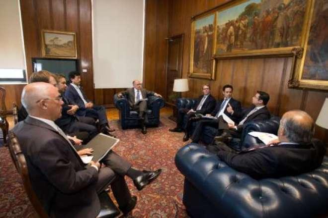 Governador Geraldo Alckmin, participa de audiência com representantes da Investe SP, BDF Nivea e com o vice-governador Márcio França.