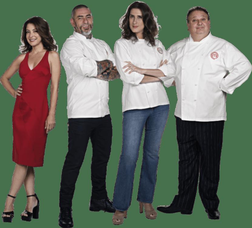 Ana Paula Padrão, Henrique Fogaça, Paola Carosella e Erick Jacquin.