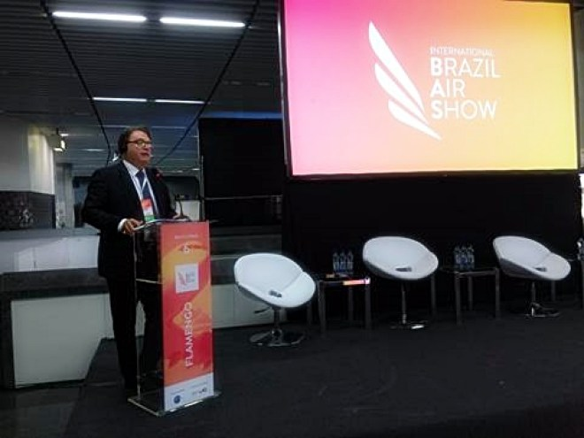 Presidente da Embratur, Vinicius Lummertz, no seminário Landings Latin America desta sexta-feira, no RJ.