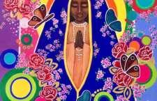 Visita ao Santuário inspirou a artista Suzy Fukushima a pintar Nossa Senhora Aparecida