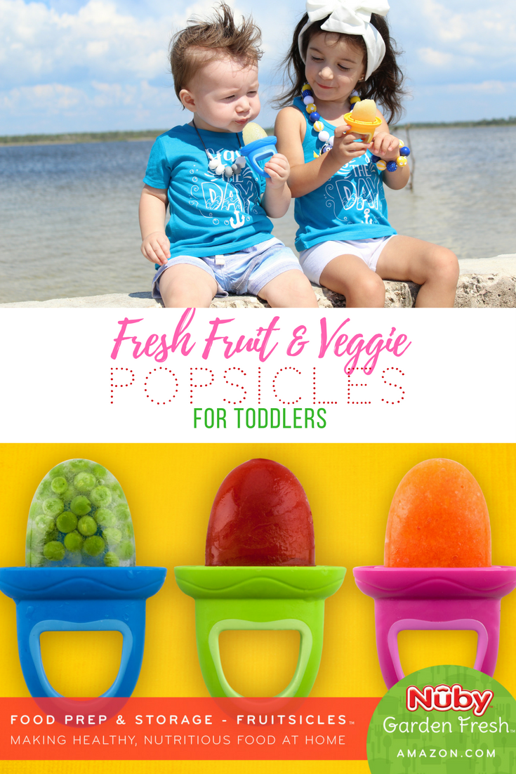 Nuby Garden Fresh Fruitsicles | Toddler Popsicles | Teething Remedies | Kids Popsicles | Real Fruit Frozen Treats