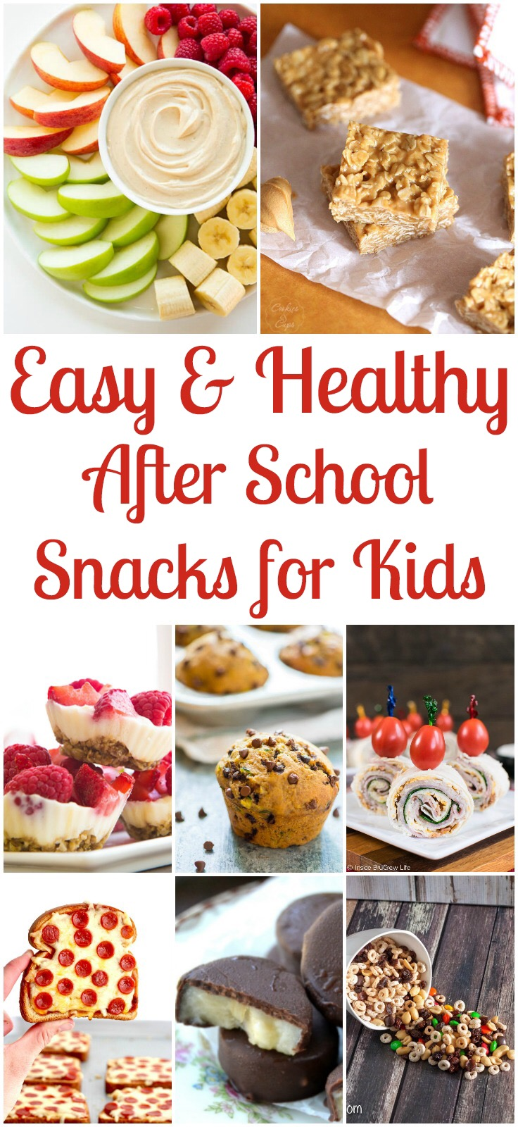 17 Easy & healthy afternoon snacks for kids, after school snacks, toddler snack ideas, yogurt dip, turkey pinwheels, pizza toast