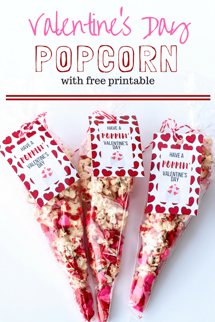 Valentine's Printables for Classrooms, valentine's Day Popcorn Printable