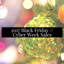 BLACK FRIDAY AND CYBER WEEK SALES