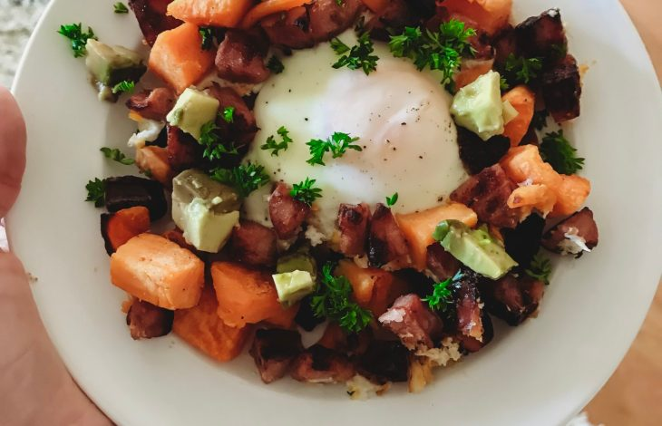 EASY WEEKNIGHT DINNER: SWEET POTATO HASH WITH EGGS