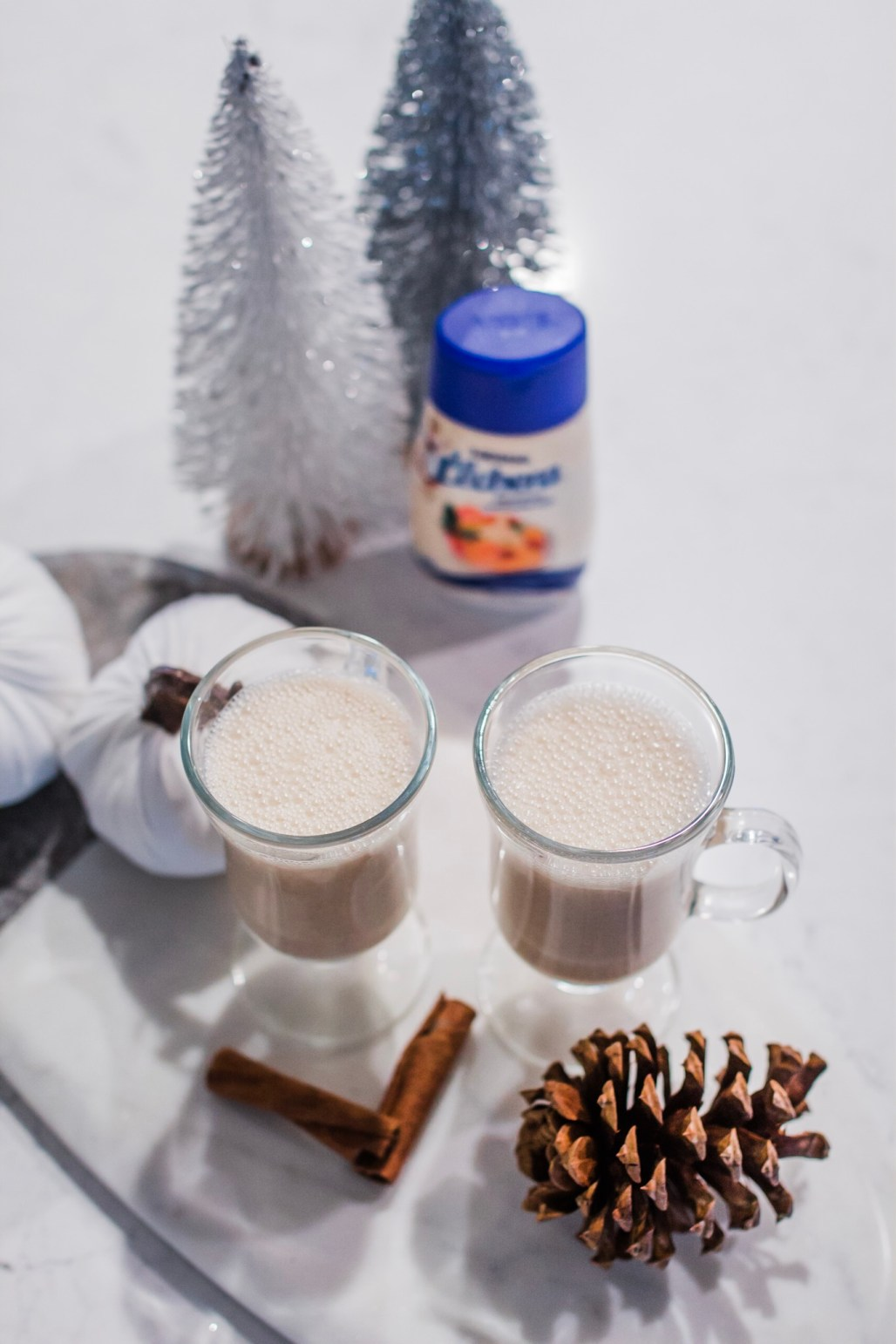 hispanic holiday traditions, spiked coquito recipe, puerto rican eggnog easy recipe with La Lechera