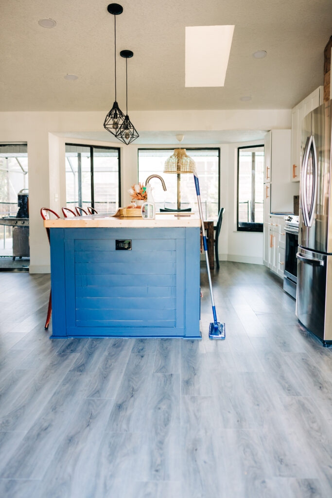 cleaning luxury vinyl plank floors