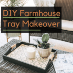 Modern Farmhouse Tray Paint Makeover Crazy Life With Littles Diy Home Decor
