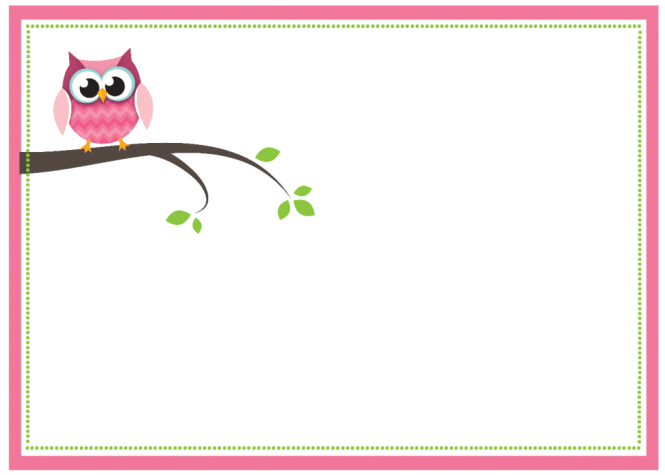 Free Printable Owl Baby Shower
