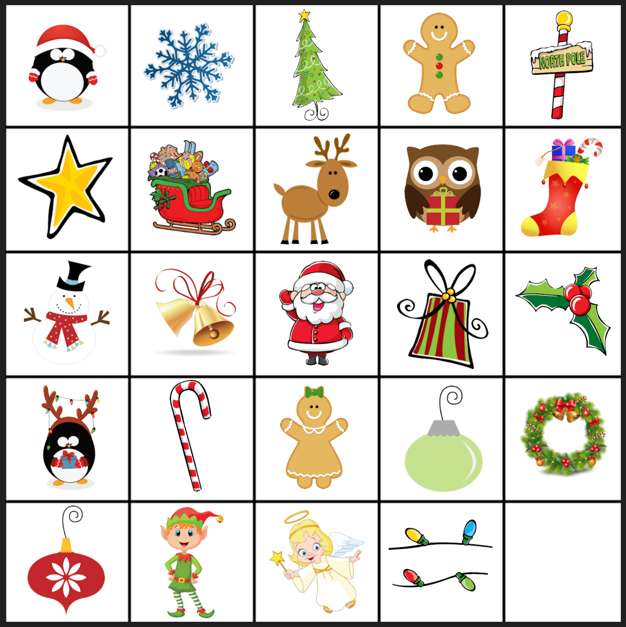 Free Printable Christmas Games Christmas Matching Game