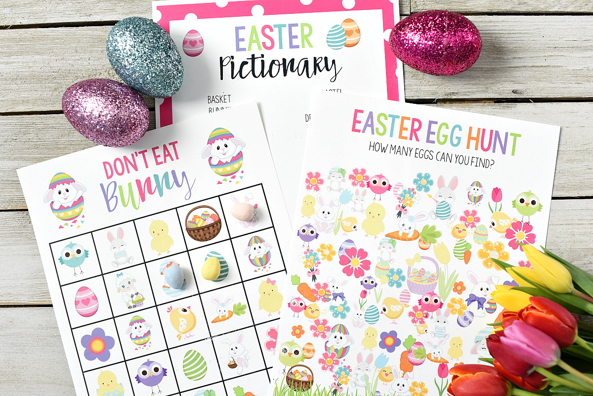 Free Printable Easter Bingo Game Fun Squared