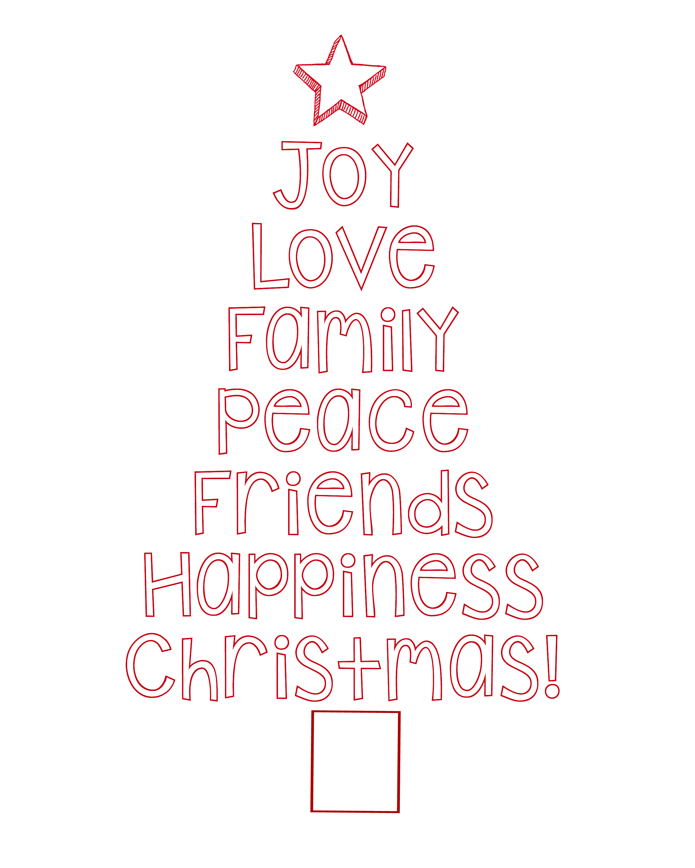 Free Printable Christmas Tree Word Art Amp Pillow Idea