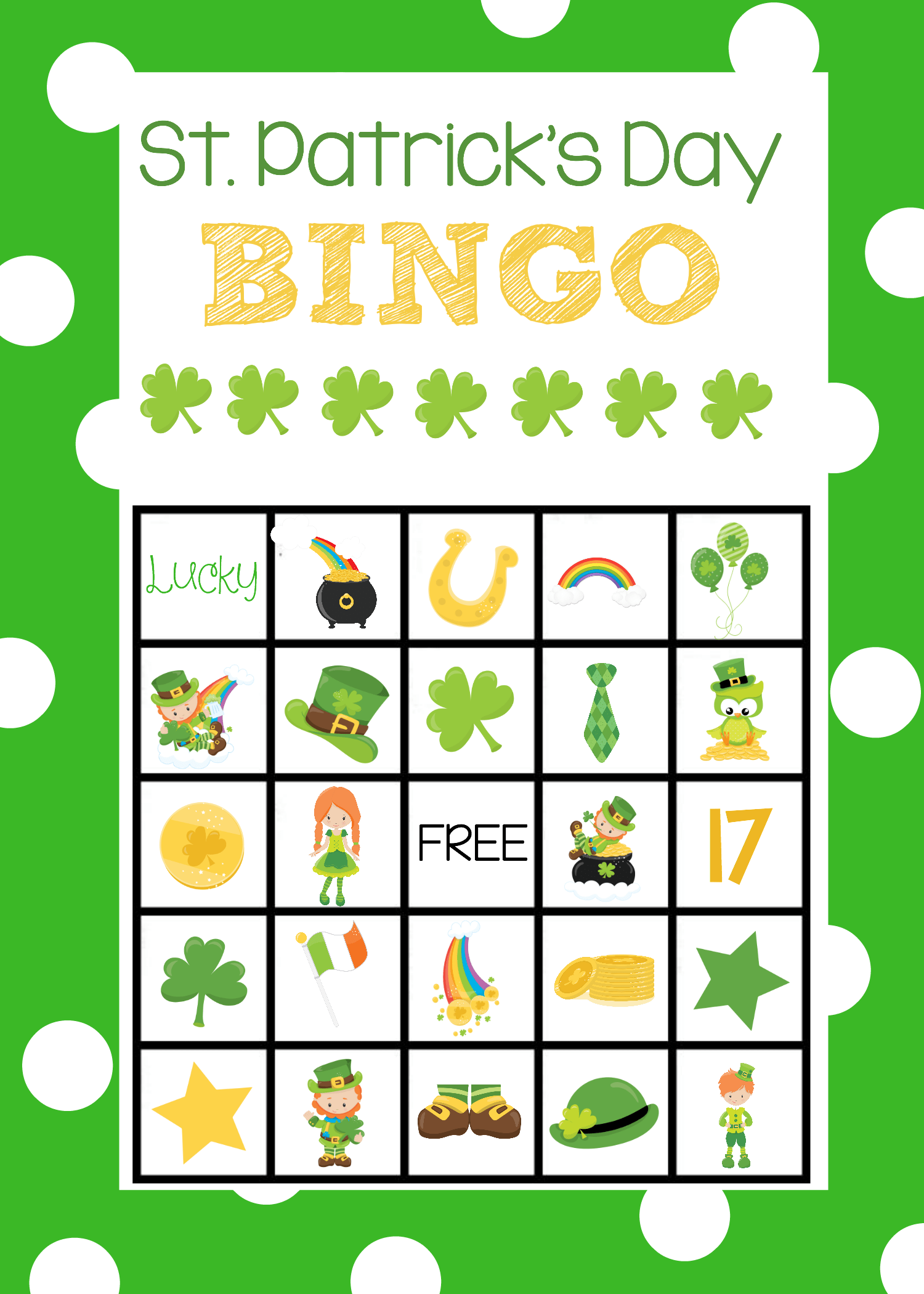 Shamrock Worksheet For Kindergarten