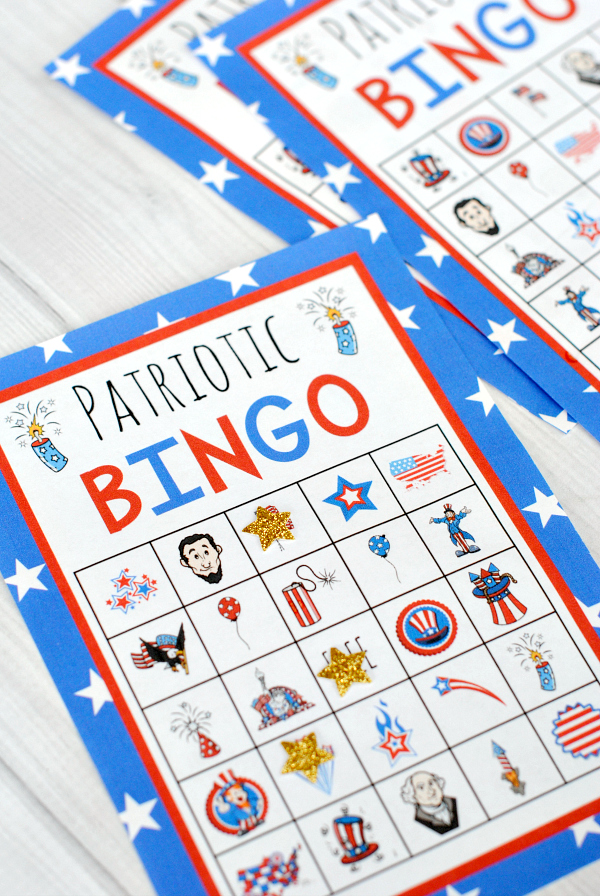 Patriotic American Bingo for the 4th of July