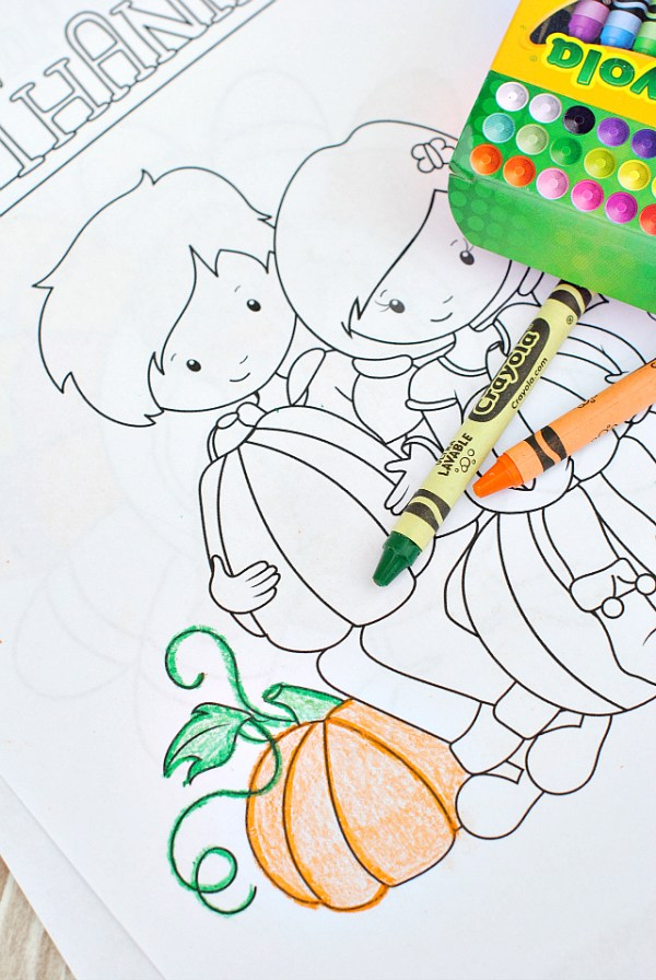 thanksgiving color pages free # 79