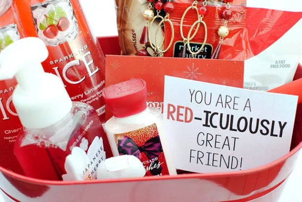 Color Themed Gifts Red Box Japanese Cherry Lotion Sparkling Ice Gift Ideas
