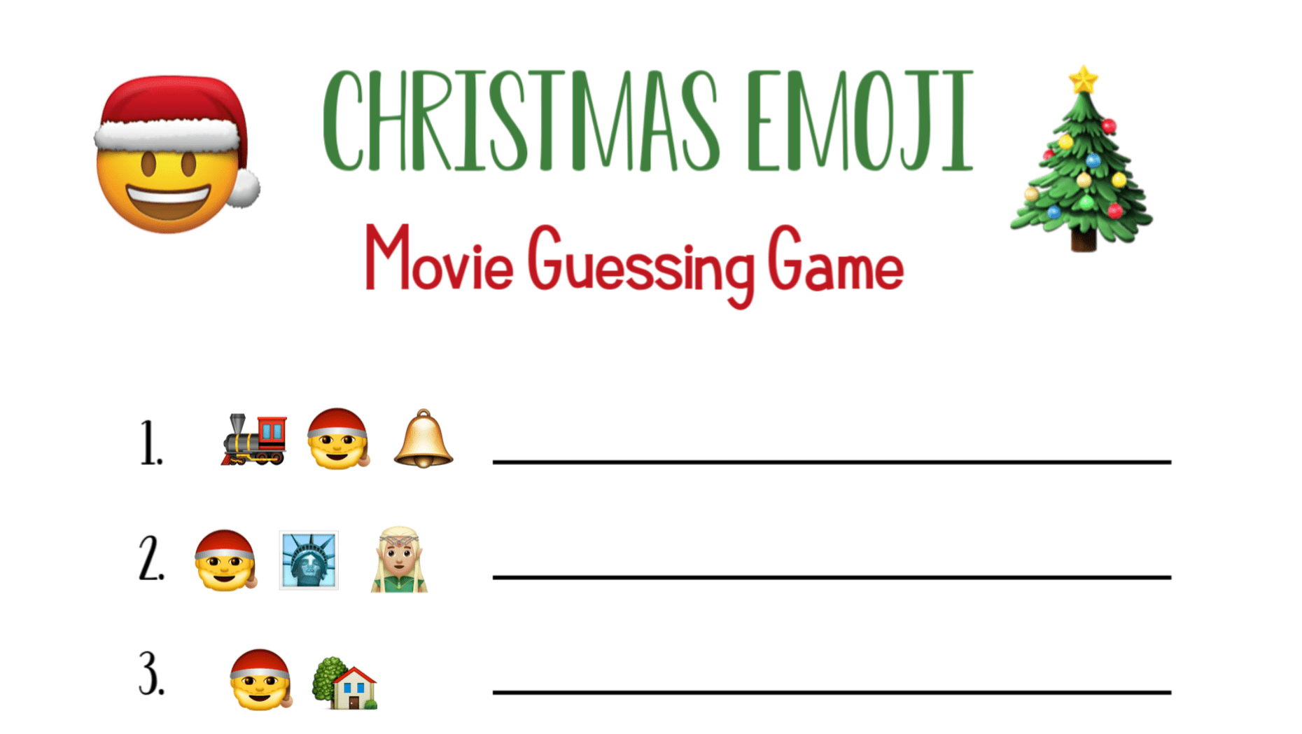 Emoji Christmas Party Games