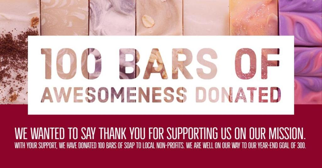 100 Bars of Awesomeness Donated
