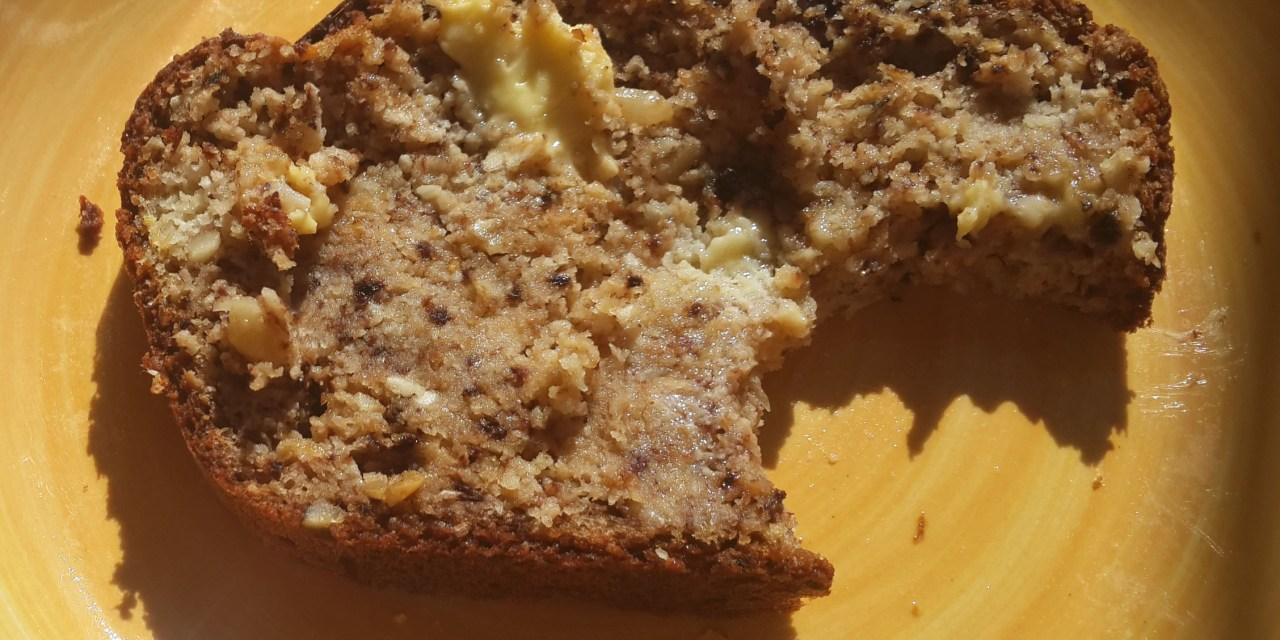 Delicious grain free, sugar free banana loaf