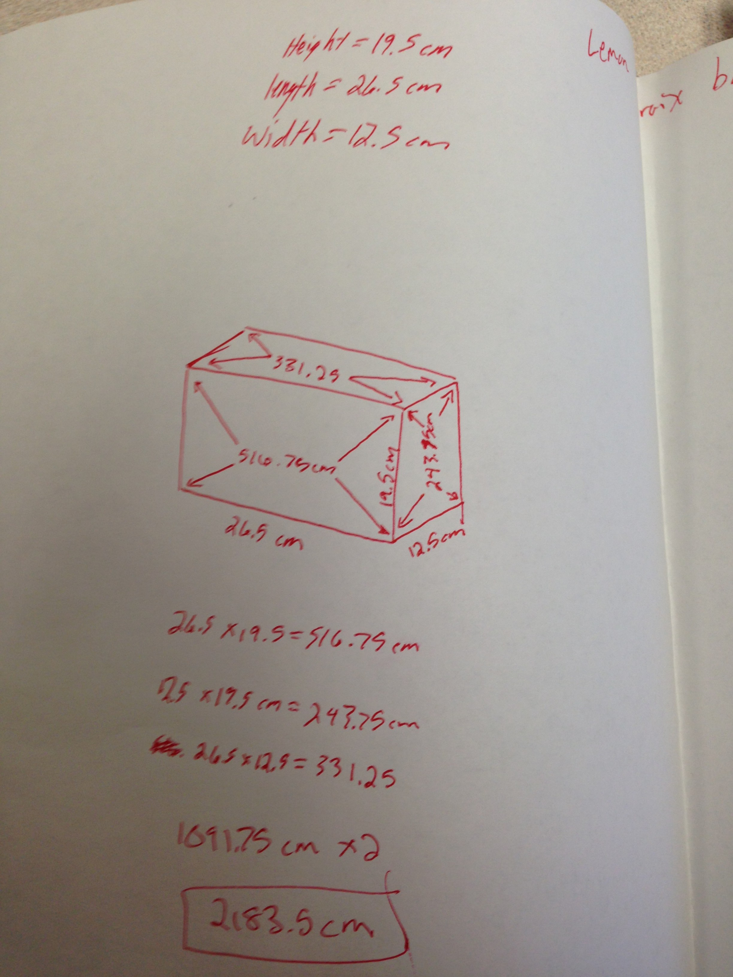 Introducing Surface Area With Pop Box Design