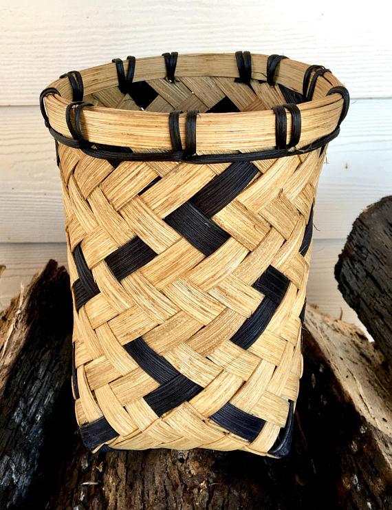 Black Natural Utensil Basket
