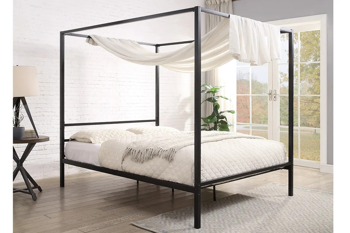 chalfont black four poster metal bed frame single small double double king sizes