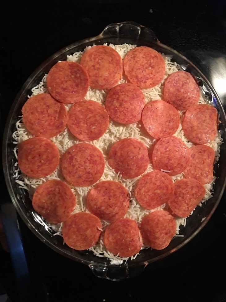 I went all in on the pepperoni! You can scale back If you desire! Credit: CrazySexySavor.com