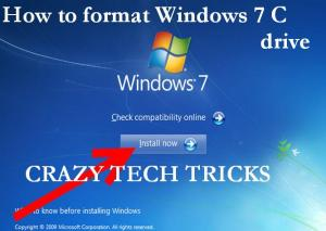 How to format Windows 7 C drive
