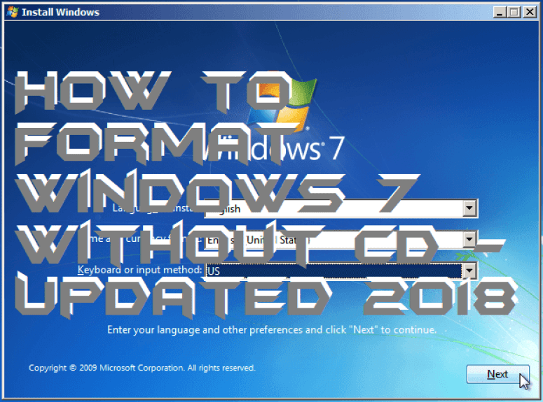 How to Format Windows 7 Without CD - Updated 2018