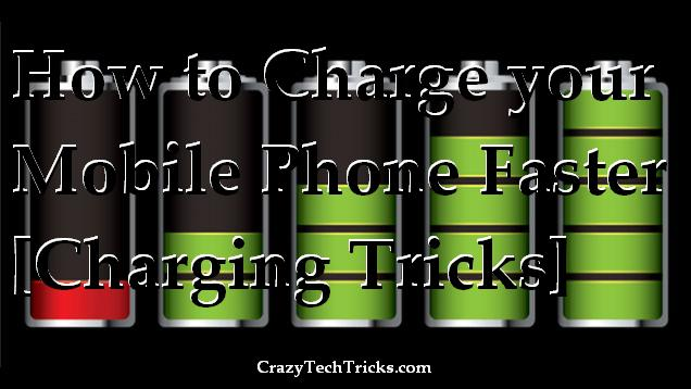 Charge your Mobile Phone Faster