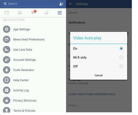 Disable Facebook Autoplay Video on mobile phone