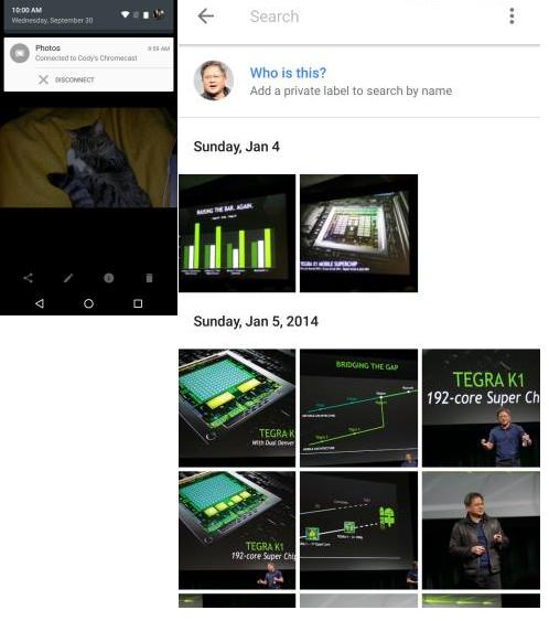 Google Photos Version 1.6 With ChromeCast support, Whatsapp