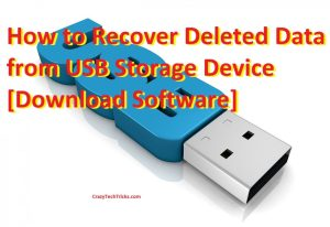 How to Recover Deleted Data from USB Storage Device [Download Software]