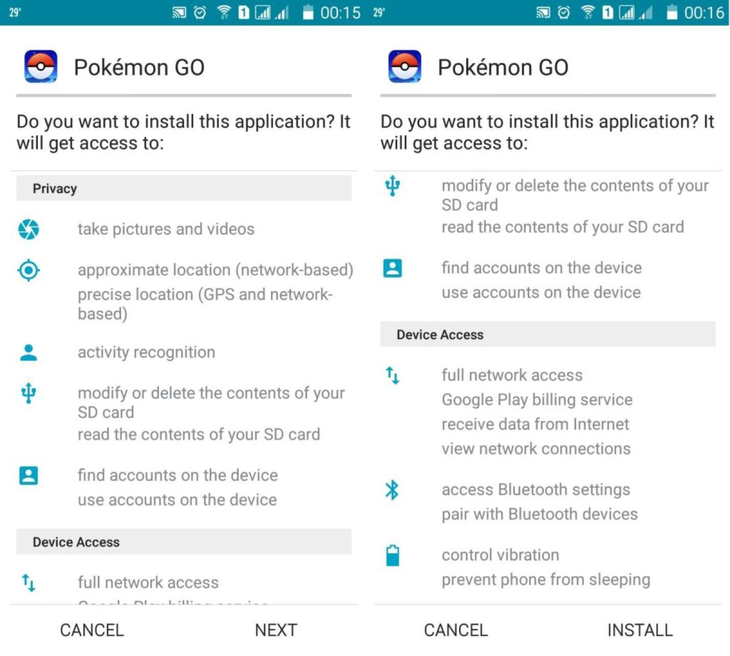 download and install Pokemon Go on Android Phone