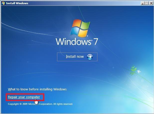 Forgot Admin Password Windows 7