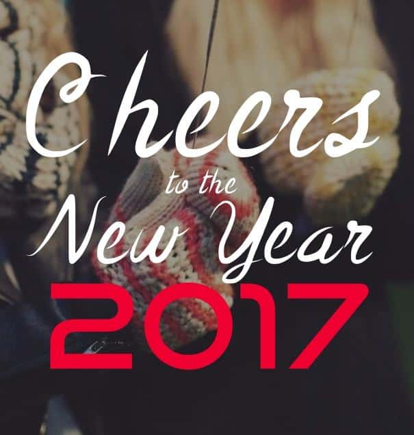 Happy New Year 2017 cheers to the new year