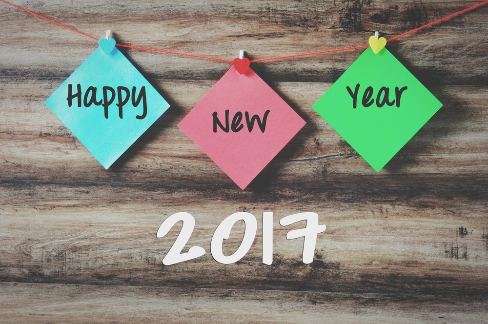 Happy New Year 2017 with paper chits