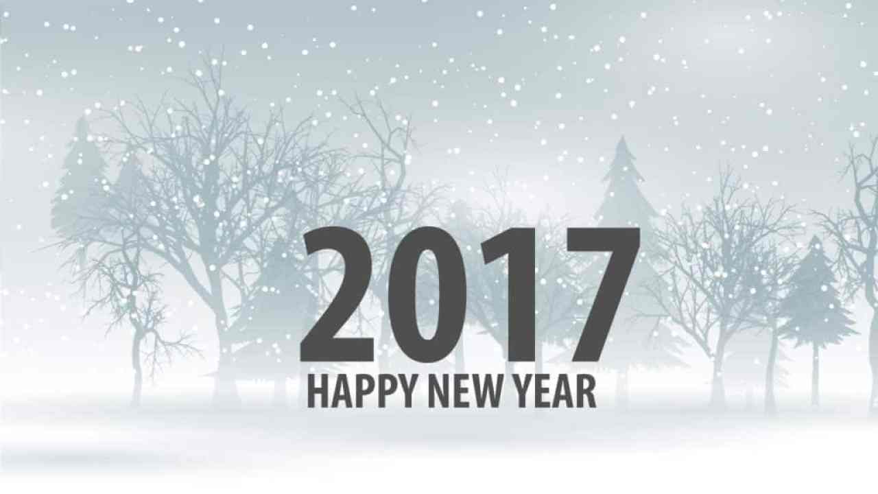 Happy New Year 2017 with x'mas background