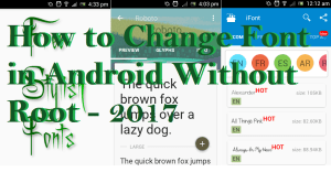 How to Change Font in Android Without Root – 2017