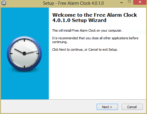 After downloading, install that software - How to Set up Alarm Clock For Windows 8 and 7