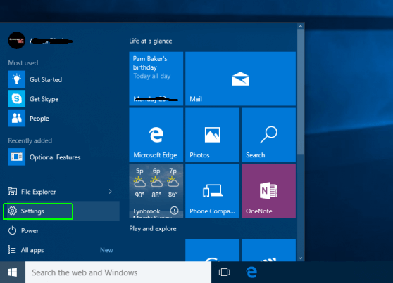Head up to the Start Manu by clicking on the Windows icon - How to Reset Windows 10 on PC-Laptop Without any Software- CD or Password