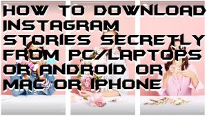 How to Download Instagram Stories Secretly from PC/Laptops or Android or Mac or iPhone