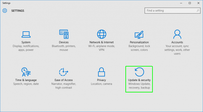 Under the settings list, click on Update & security - How to Reset Windows 10 on PC-Laptop Without any Software- CD or Password