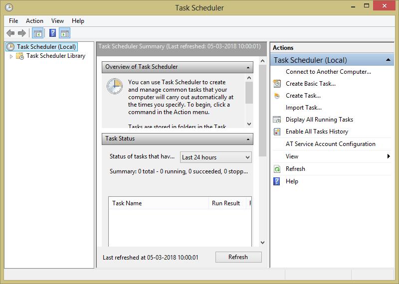 Using Task Scheduler- After installing open it - How to Schedule Shutdown in Windows 10 - Top 5 Methods for Auto-shutdown PC-Laptop