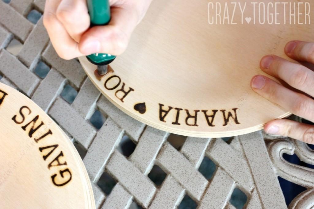 Wedding Wednesday: DIY Woodburned Plates