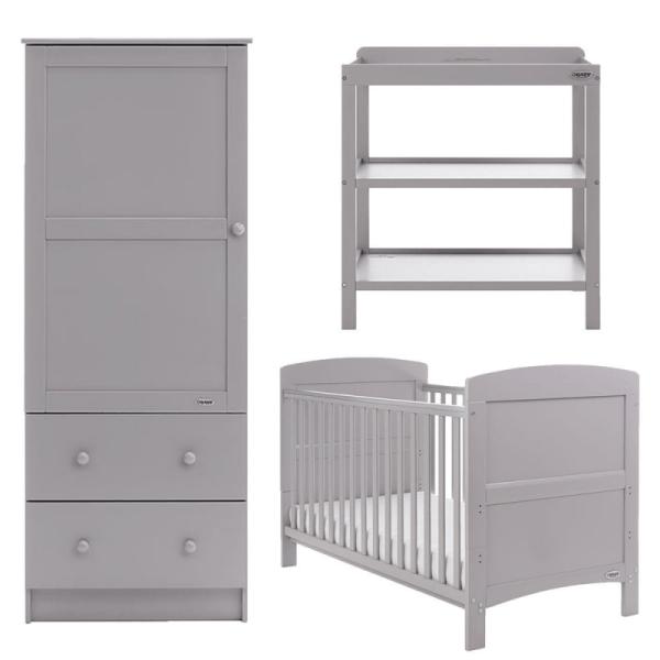 Obaby Grace 3 Piece Room Set - Warm Grey